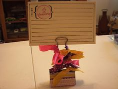 A Simple Gift to Make- Photo holder or recipe card holder