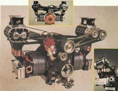 air cooled Beetle motor up front, without cooling tin and fan, with twin dual Webbers. lol how about this?