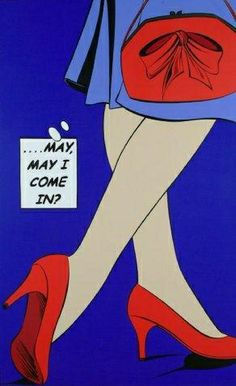 pop art - May I Come In? Red Shoes