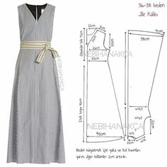 18 New Ideas For Sewing Simple Dresses Patrones Dress Sewing Patterns, Sewing Patterns Free, Clothing Patterns, Fashion Sewing, Diy Fashion, Ideias Fashion, Sewing Clothes, Diy Clothes, Costura Fashion