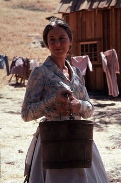 "Karen Grassle as Ma on Little House on the 1970s TV series ""Little House on the Prairie"""