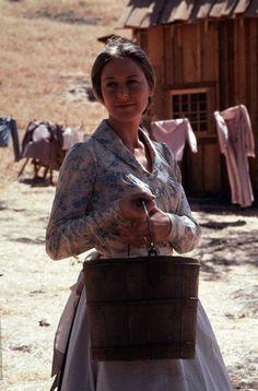 "Karen Grassle as Ma on Little House on the 1970s TV series ""Little House on the Prairie"""