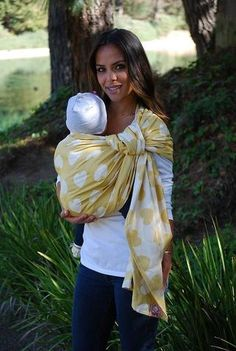 Yellow hearts woven wrap baby carrier! Tula Love Enchanté - Baby Tula Woven Wrap