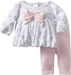 Kids Headquarters Baby-Girls Newborn Fresh Printed Tunic With Leggings, White, 6-9 Months Kids Headquarters. $7.84