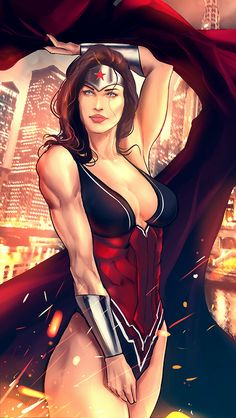 Wonder Woman by Swenom. There is something very intriguing about this picture.
