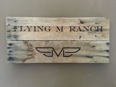 Hand burnt signs with Livestock Brand. #Branding #Brand #Cattle #Cows