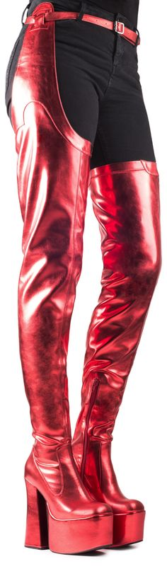 Jeffrey Campbell Shoes HOTSHOT Shop All in Red Metallic