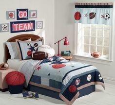 Sport Themed Boys Bedrooms
