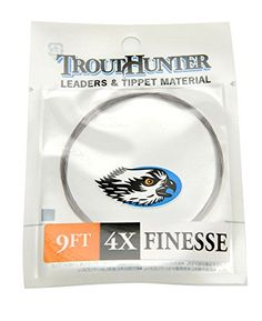 Trouthunter Finesse Leaders, 9 ft, 3 Pack  http://fishingrodsreelsandgear.com/product/trouthunter-finesse-leaders-9-ft-3-pack/  Fishing quick pocket water on large and small streams requires special features Thin butt, dynamic taper and long tippet perfectly Camouflage smokey tint for low