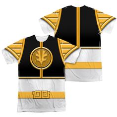 Power Ranger Shirt White Ranger Costume Sublimation Shirt Front/Back Print - Power Rangers White Ranger Costume Sublimation Shirts Power Rangers Shirt, Tommy Oliver, Wrestling Shirts, Sublime Shirt, Mighty Morphin Power Rangers, Movie Shirts, Cheap T Shirts, Graphic Tee Shirts, Branded T Shirts
