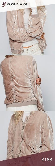 FREE PEOPLE VELVET JACKET WORN ONCE! NO DAMAGE, AUTHENTIC, OPEN TO OFFERS! Free People Sweaters