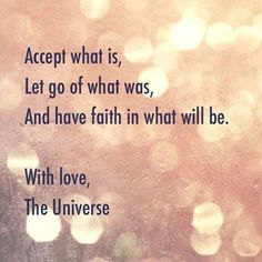 with love, universe...