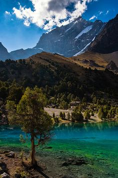 Turquoise Alauddin Lake, Tajikistan