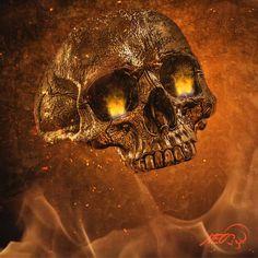 Home Sweet Skull Home is where you feel warm 🔥 . Ghost Rider Wallpaper, Skull Wallpaper, Skull Artwork, Metal Artwork, Animated Love Images, Arte Do Hip Hop, Grim Reaper Art, Ms Marvel, Captain Marvel