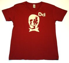 DEAD MANS PARTY  - 100% Cotton  - Short sleeve v neck  - crimson cream print  PRICE: $30.00    http://www.druedun.com/store/44/115/DEAD-MANS-PARTY.html