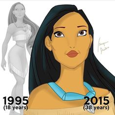 Isaque wanted to make women feel as though they could be princesses at any age. Pictured: Pocahontas who would now be 38 Disney Pocahontas, Disney Amor, Princess Pocahontas, Disney Princess Ages, All Disney Princesses, Disney Girls, Disney Characters, Disney Magic, Disney And Dreamworks