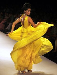 Creation by Drashta during the Lakme Fashion Week in Mumbai, India