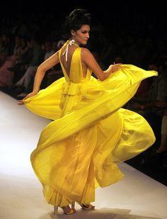 Creation by Drashta during the Lakme Fashion Week in Mumbai, India