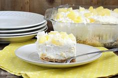 No Bake Pineapple Dream Dessert topped with coconut is cool, creamy and perfect for summer. You'll want to make this easy vintage dessert again and again!