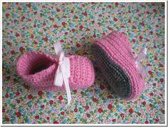 botitas rosa con suela gris