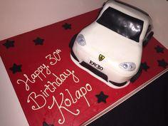 Red Velvet Porsche Cake