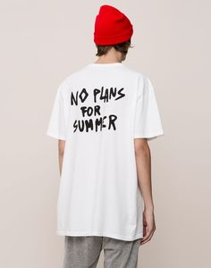 The most comfortable look with Autumn Winter 2017 T-shirts for men at PULL&BEAR. Find our polo shirts, tank tops and V- neck or oversized T-shirts for men. Shirt Print Design, Tee Shirt Designs, Tee Design, Streetwear Mode, Streetwear Fashion, Printed Shirts, Tee Shirts, Tees, Custom Clothes