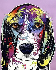 DOG ART PRINT Beagle Charm Dean Russo #Realism