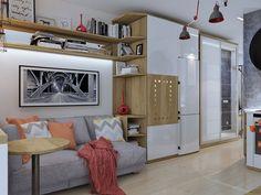Компактный интерьер студии 18 кв. м. от Людмилы Ермолаевой