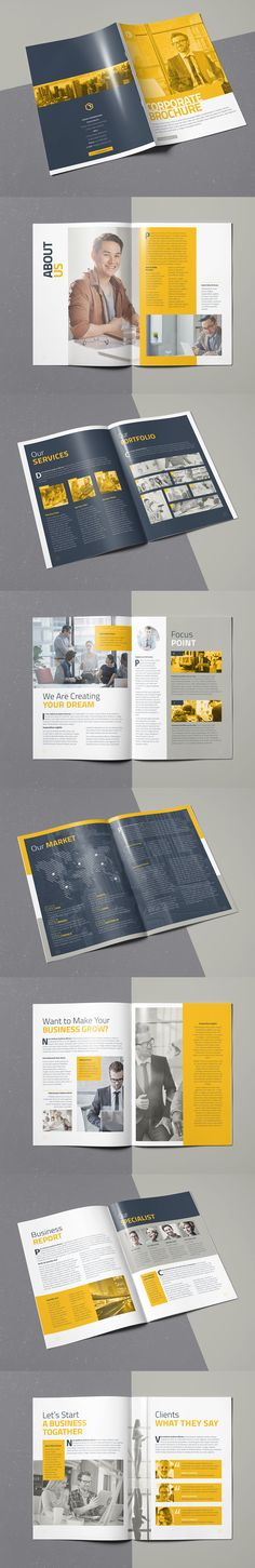 Corporate Brochure Template InDesign INDD - 16 Pages A4