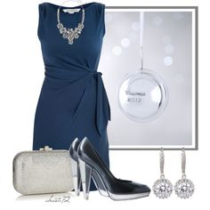 """Blue Christmas"" by christa72 on Polyvore"