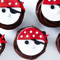 Ahoy Matey! Here are some Fudgy Chocolate Pirate Cupcakes that you'll wanna walk the plank for.  #BiteMeMore #chocolate #cupcakes
