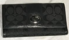 AuthCOACHSignature Black  Trifold Checkbook Wallet