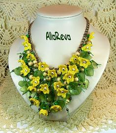 Beautiful crochet necklace ❤ more at site