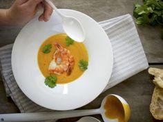 gazpacho di melone - Carlotta e il bassotto Gazpacho, Thai Red Curry, Ethnic Recipes, Food, Cream, Hoods, Meals