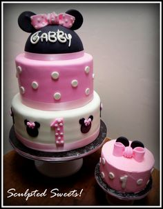 - Minnie Mouse 1st Birthday and smash cake.