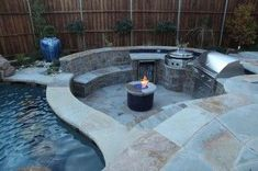 3 Accomplished Clever Tips: Easy Fire Pit Weekend Projects fire pit decor seating areas.Fire Pit Ring Landscaping tabletop fire pit home. Fire Pit In Pool, Fire Pit Food, Wood Fire Pit, Fire Pit Grill, Rustic Fire Pits, Fire Pit Backyard, Bar Grill, Backyard Fireplace, Pool Backyard