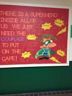 Courage bulletin board