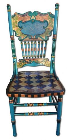 Chairs | One Offs Art & One of Designs - Custom Hand Painted Furniture by Nancy Woods