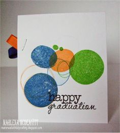 Card by Marlena using Happy Graduation from Verve.  #vervestamps