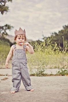 Yep, pretty much love everything- lollipop, crown, & overalls.