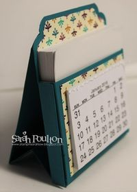 : A Bohemian DSP Desk Calendar from Stampin' UP! Calendar Notes, Desktop Calendar, Calendar Ideas, Kalender Design, Post It Note Holders, 3d Paper Crafts, Easel Cards, Craft Show Ideas, Desk Calendars