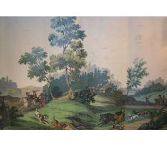 """Gracie vintage wallpaper. """"Passage a Chasse"""" Circa 1800 Manufacturer/designer: Zuber/Jean-Julien Deltil other panels available. Please call for pricing. I love when it says that."""
