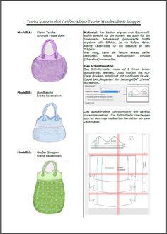 Nähanleitung Tasche Marie in drei Variationen | Kostenlose Nähanleitungen | kreative.stoffe.de