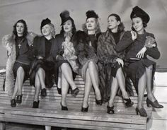 The 1940s. When ladies were all taught how to sit properly, and wear age and situationally appropriate clothing.