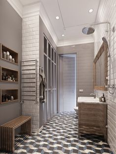 Современная классика в двухкомнатной квартире в Москве – Красивые квартиры