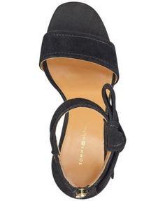 Tommy Hilfiger Sunday Two-Piece Block-Heel Dress Sandals - Black 7.5M