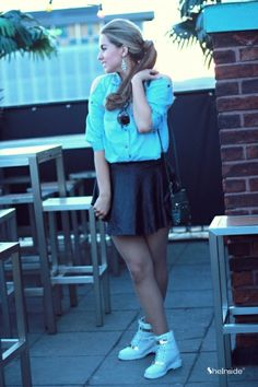 Denim Blouse - Womens Fashion Clothing at