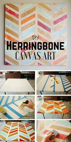 Check out the tutorial: #DIY Herringbone Canvas Art @istandarddesign