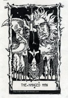 Cool B Illustration - The Hanged Man