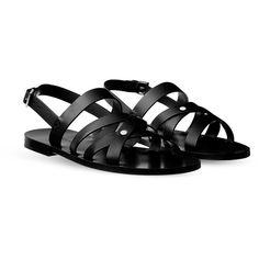 1fddbf76 Hermès Minos Sandal ($870) ❤ liked on Polyvore featuring men's fashion,
